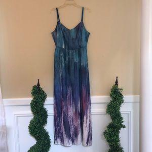 ModCloth Brushstroke Maxi Dress Size Large